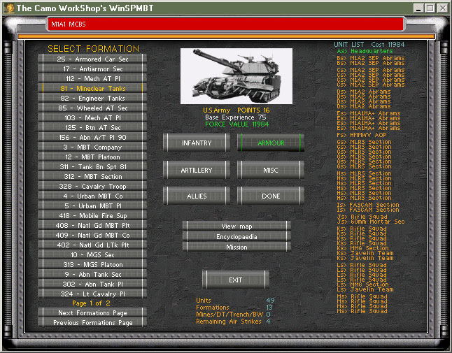 Steel Panthers: Main Battle Tanks Screen_1